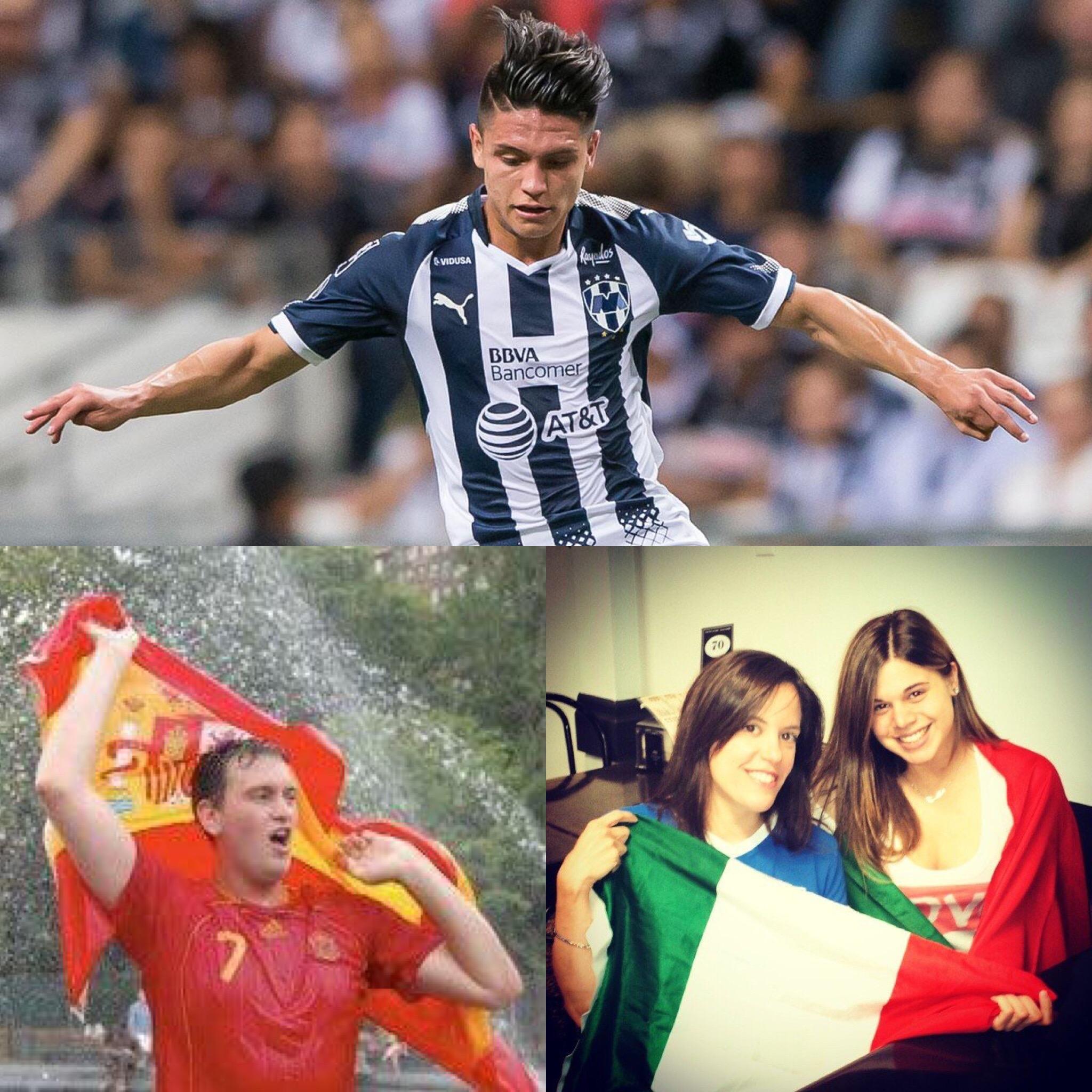 Three dual nationals deal with their identity--clockwise from top: Jonathan Gonzalez, Elizabeth Cotignola, Gabe Lezra.