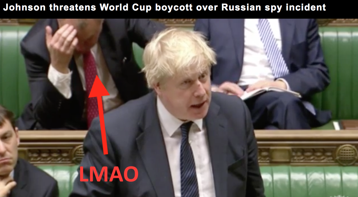 My dude demonstrating the appropriate response to Boris Johnson, *FACEPALM*