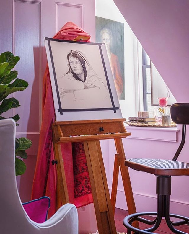 Beautiful view from @simonlewisphoto of my room, the Artist's Salon at the Southern Style Now Showhouse!