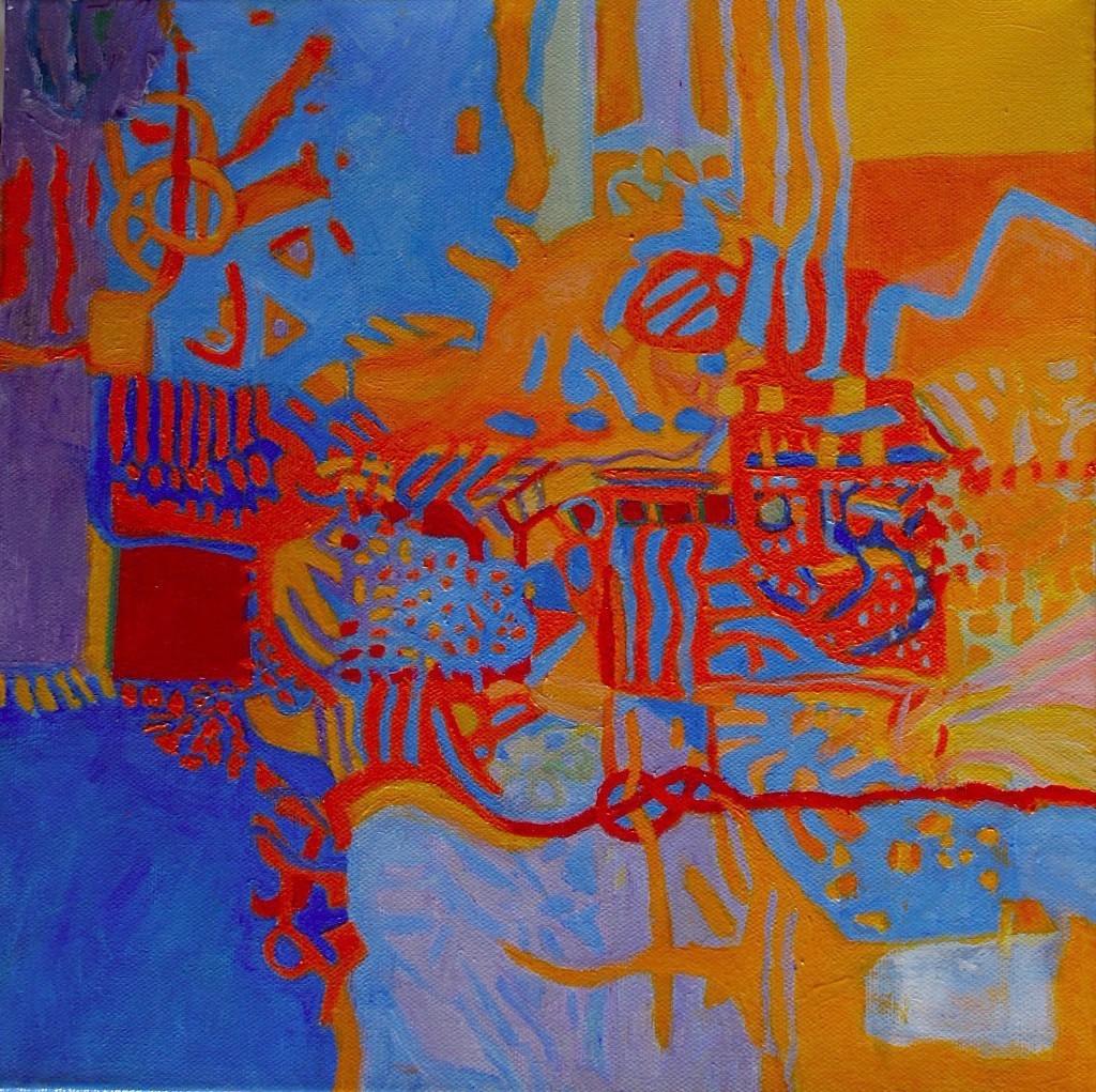 """APPLE ... acrylic on canvas  12""""x12"""""""