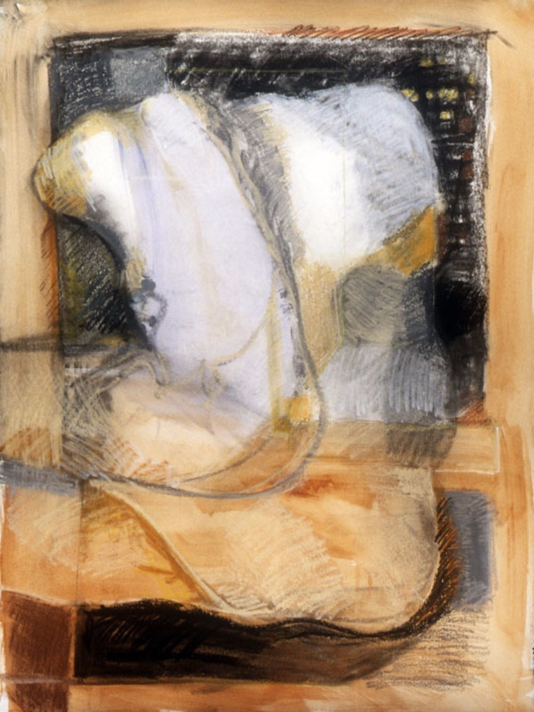 """FIGURE SERIES 6 ... mixed media on paper 28""""x22"""""""