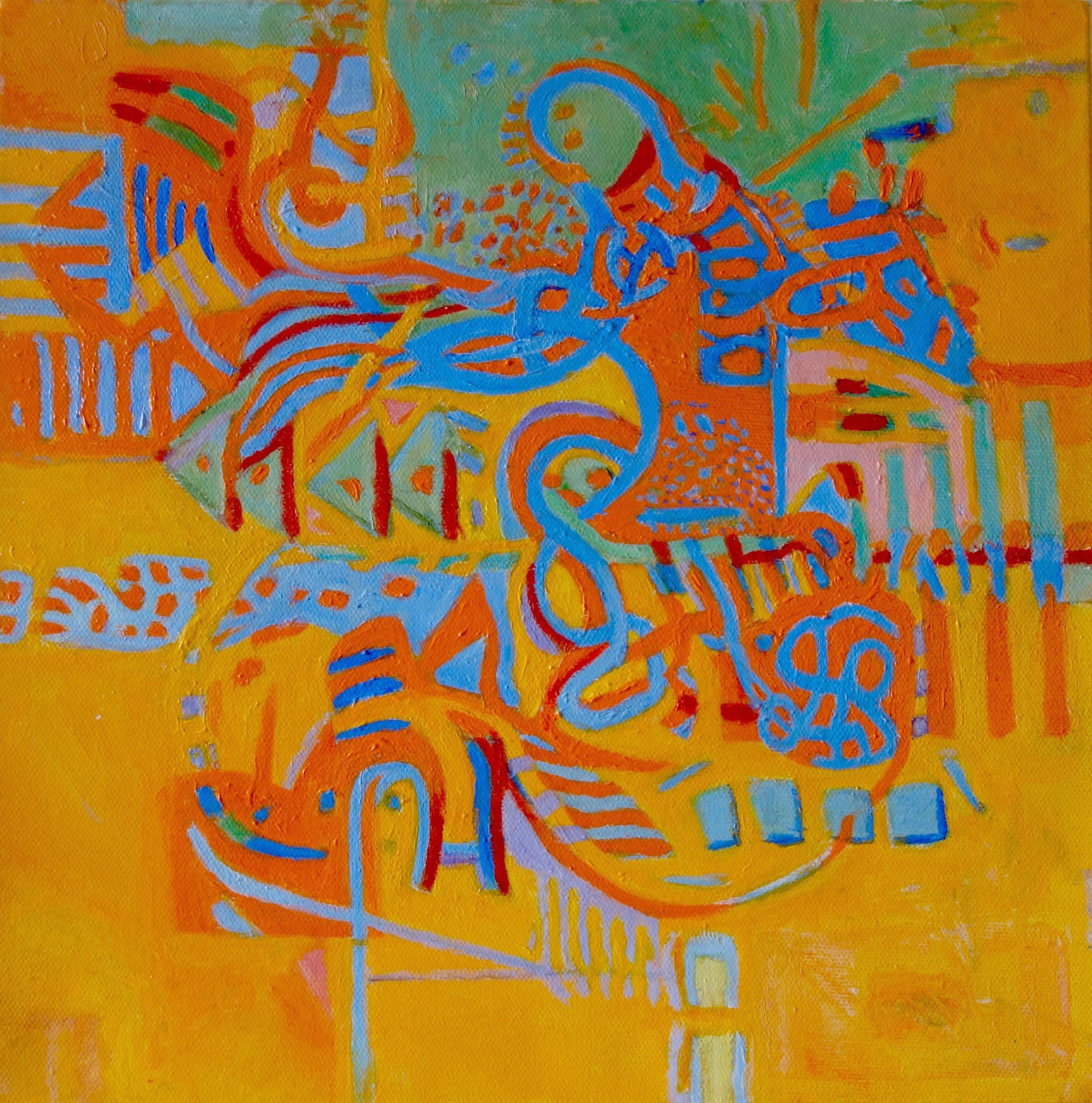 """SUNNY ... acrylic on canvas 12""""x12"""""""