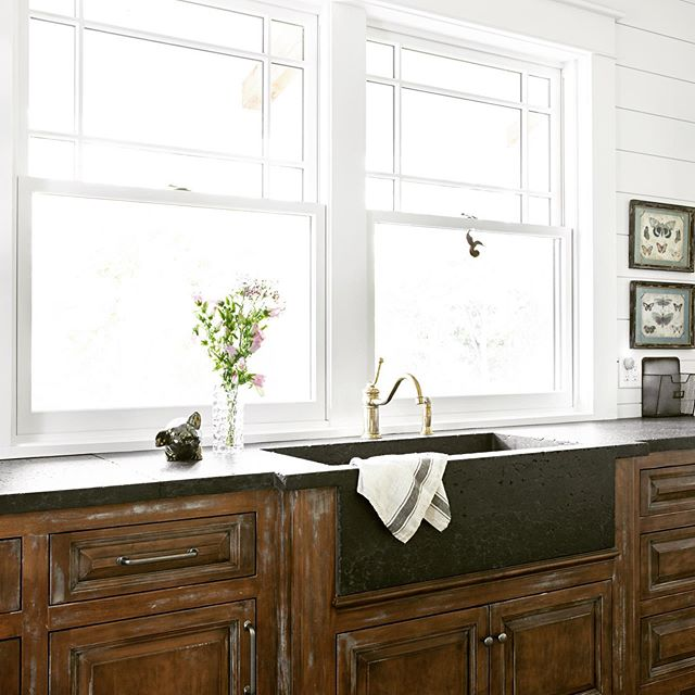 Distressed antique finish wins my vote every time! #farmhouse #frenchcountrystyle #frenchcountrydecor #frenchcountry #customcabinetry #laundryroom #millwork #interiordesign