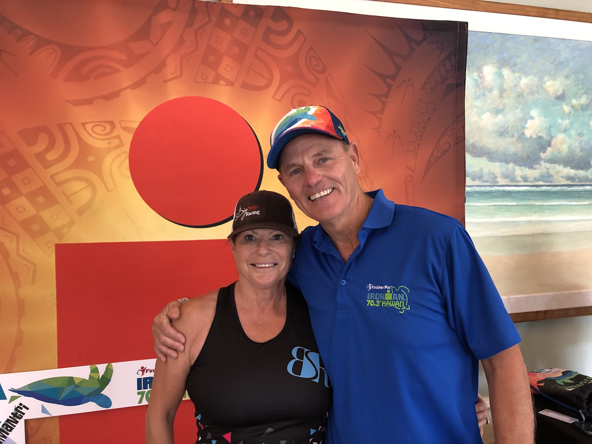 Elaine with Mike Riley