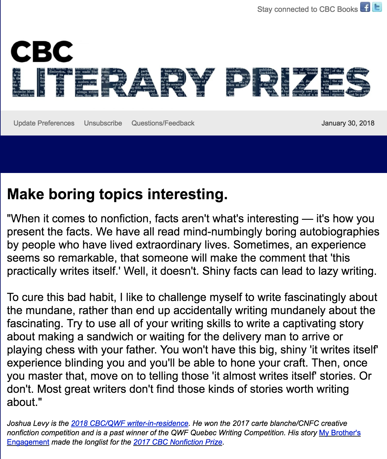 CBC Literary Prizes