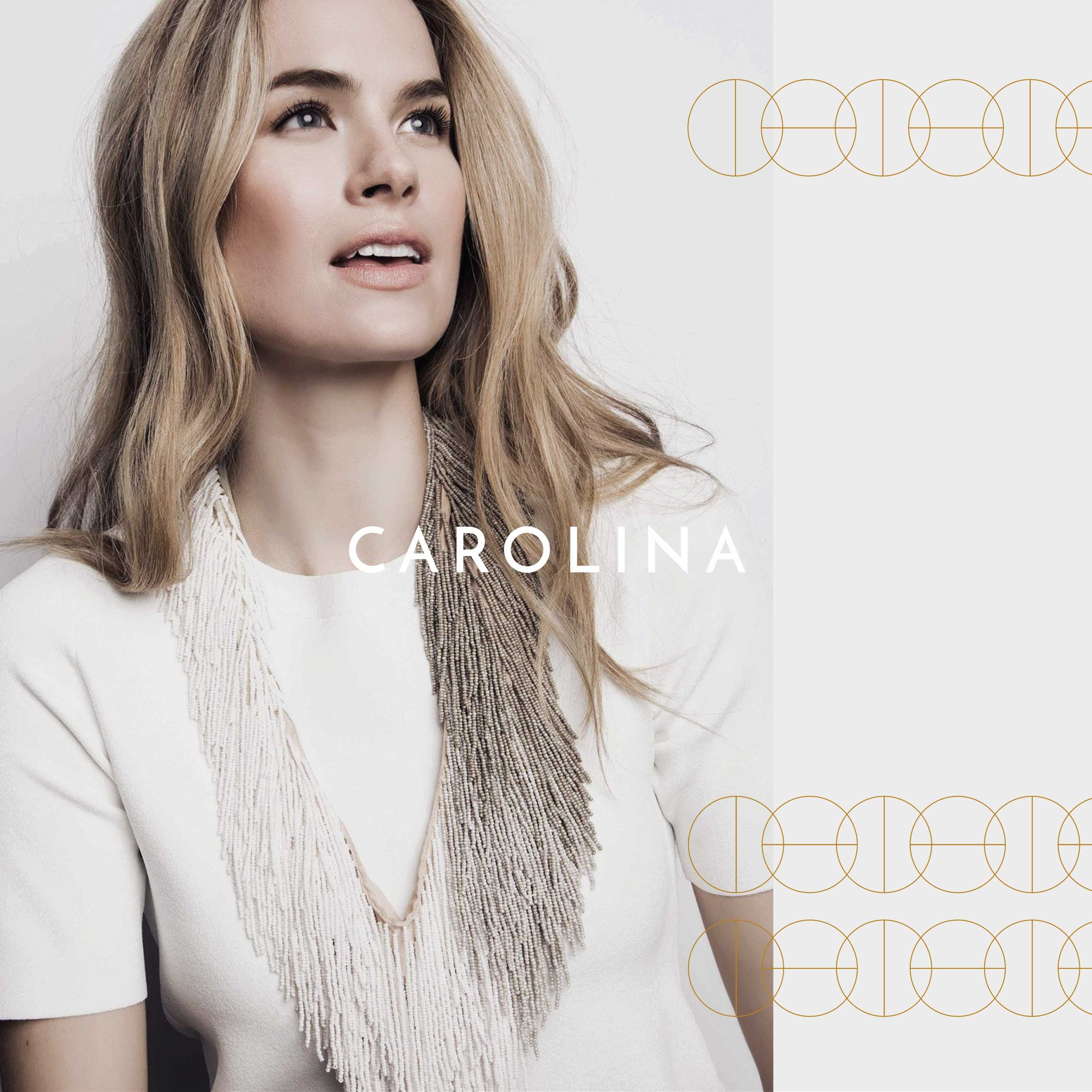 Fashionable woman for Carolina Boutique brand identity.