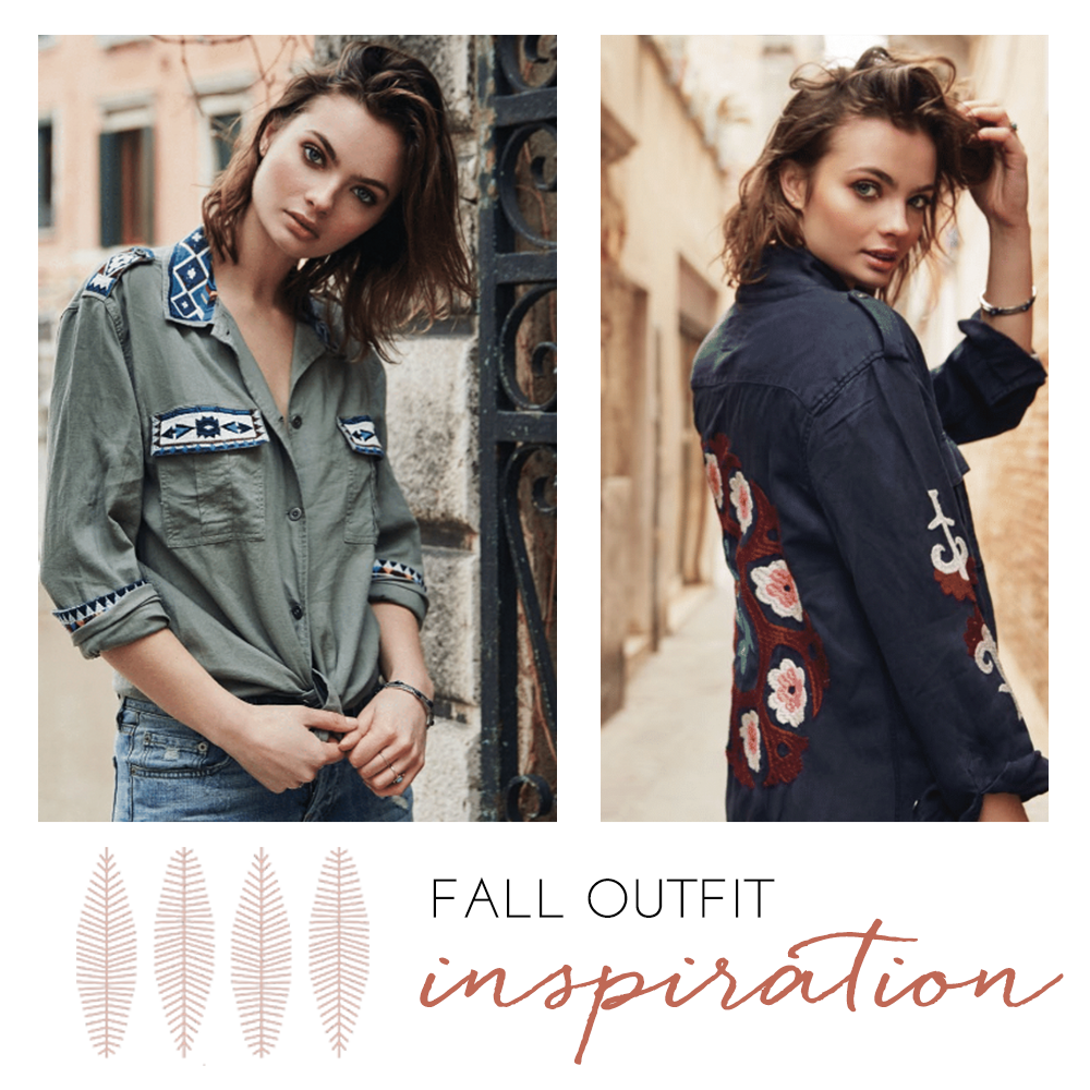 Fall outfit inspiration social media post for Carolina Boutique clothing brand.