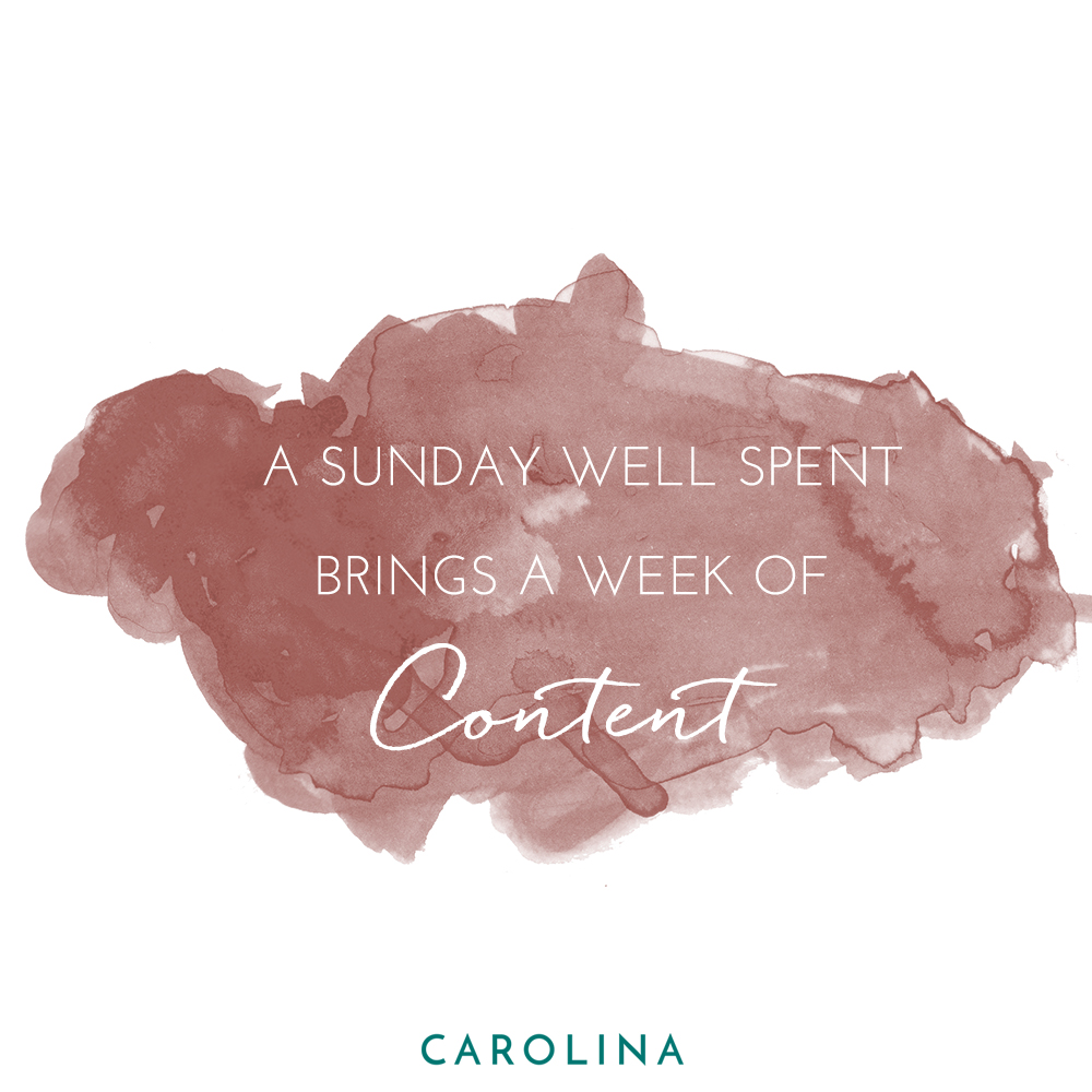 A copper colored, watercolor paint social media post developed for the Carolina Clothing brand in Mill Valley, California.