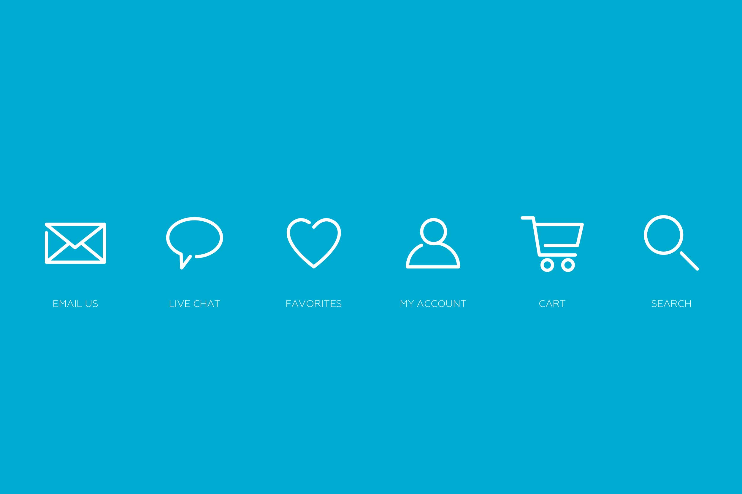 Icons developed that help build the 2Modern brand.