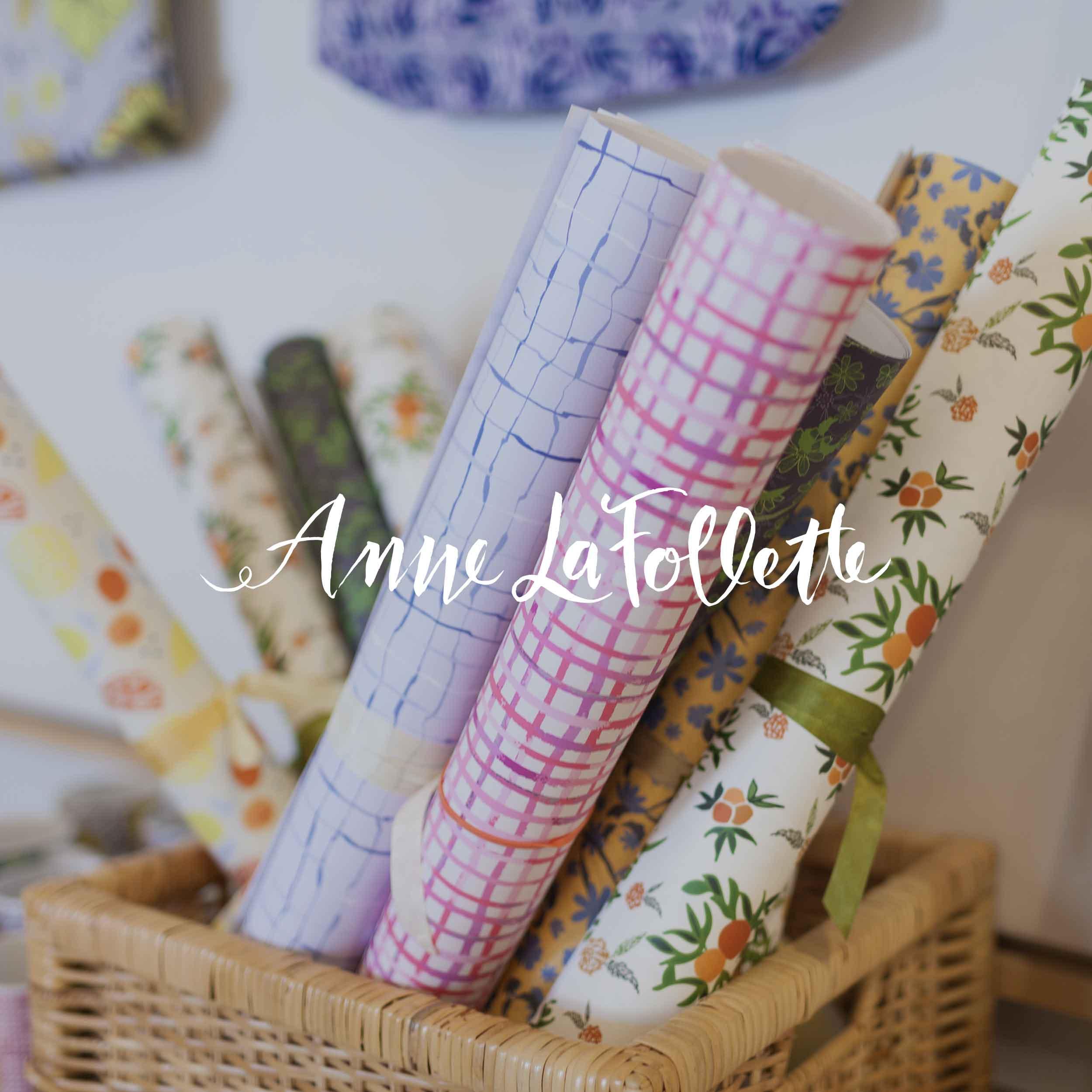 Anne LaFollette Art Surface Pattern Design Gift Wrap