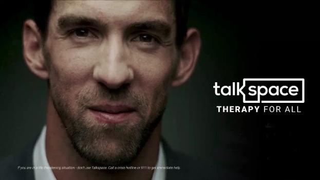 Campaña de salud mental de Talkspace x Michael Phelps.
