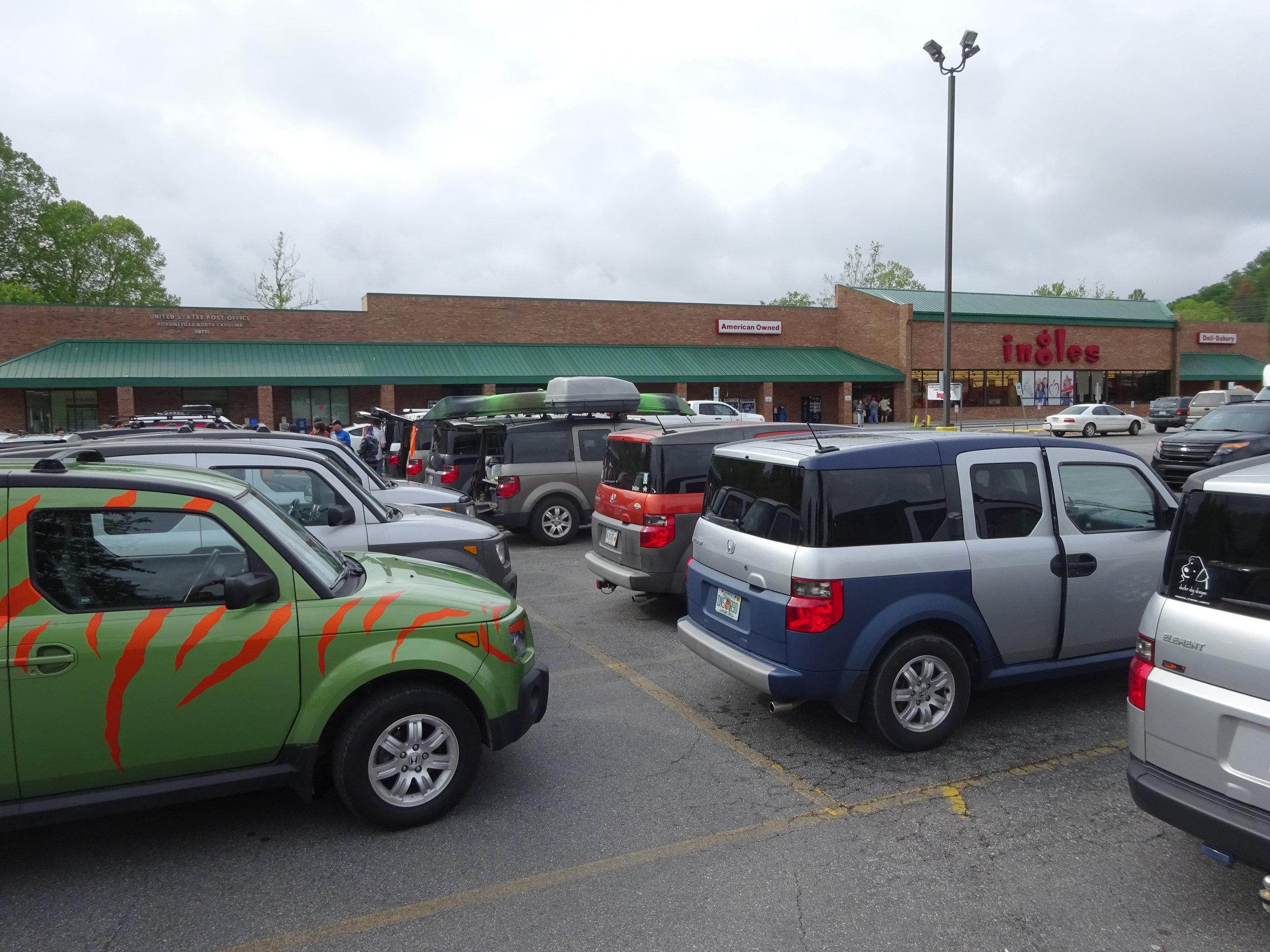 Meet Here Before 9AM - parking lot meetup location