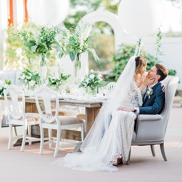 Another reason why it's so important to hire a FANTASTIC wedding photographer... Sometimes the bride and groom don't have eyes for anything but each other on their wedding day. Good thing they can look at all the details afterwards in the photos!  Photography: @sisterleephotography  Styling:  @livfortheday Florals:  @poppyhill_flowers Venue:  @themuckenthalermansion Vintage Table Rentals:  @cherishedrentals Furniture:  @sweetsalvagerentals Linens:  @luxe_linen Invitations / Menu:  @pirouettepapercompany