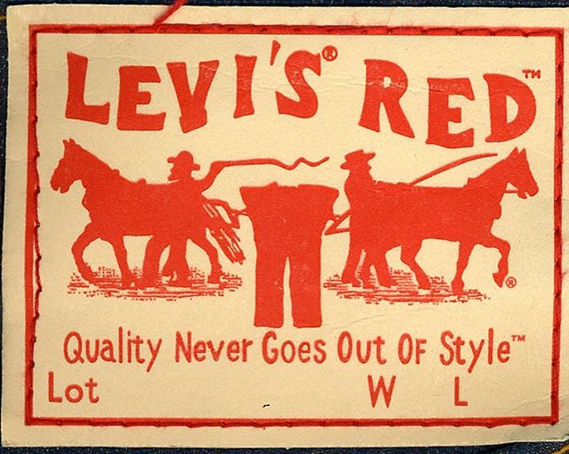 Levi's RED patch from 2003 artwork design by Z #levis #levisred #levisstrauss #red #denim #branding