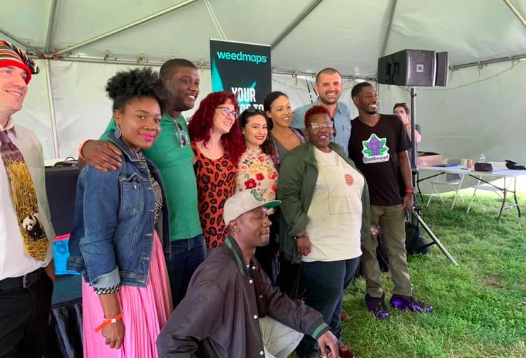 2019 CannaTank finalists and judges. Photo courtesy of Ayanna Lawson.