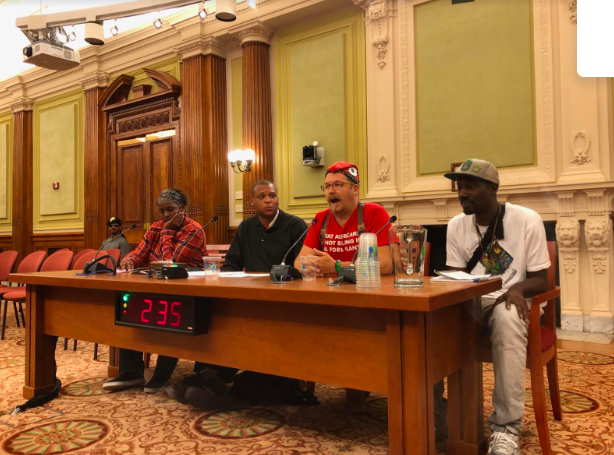Community activists testify at the DC Council hearing on September 25th. Phil Hedgeman is seated on the far right.
