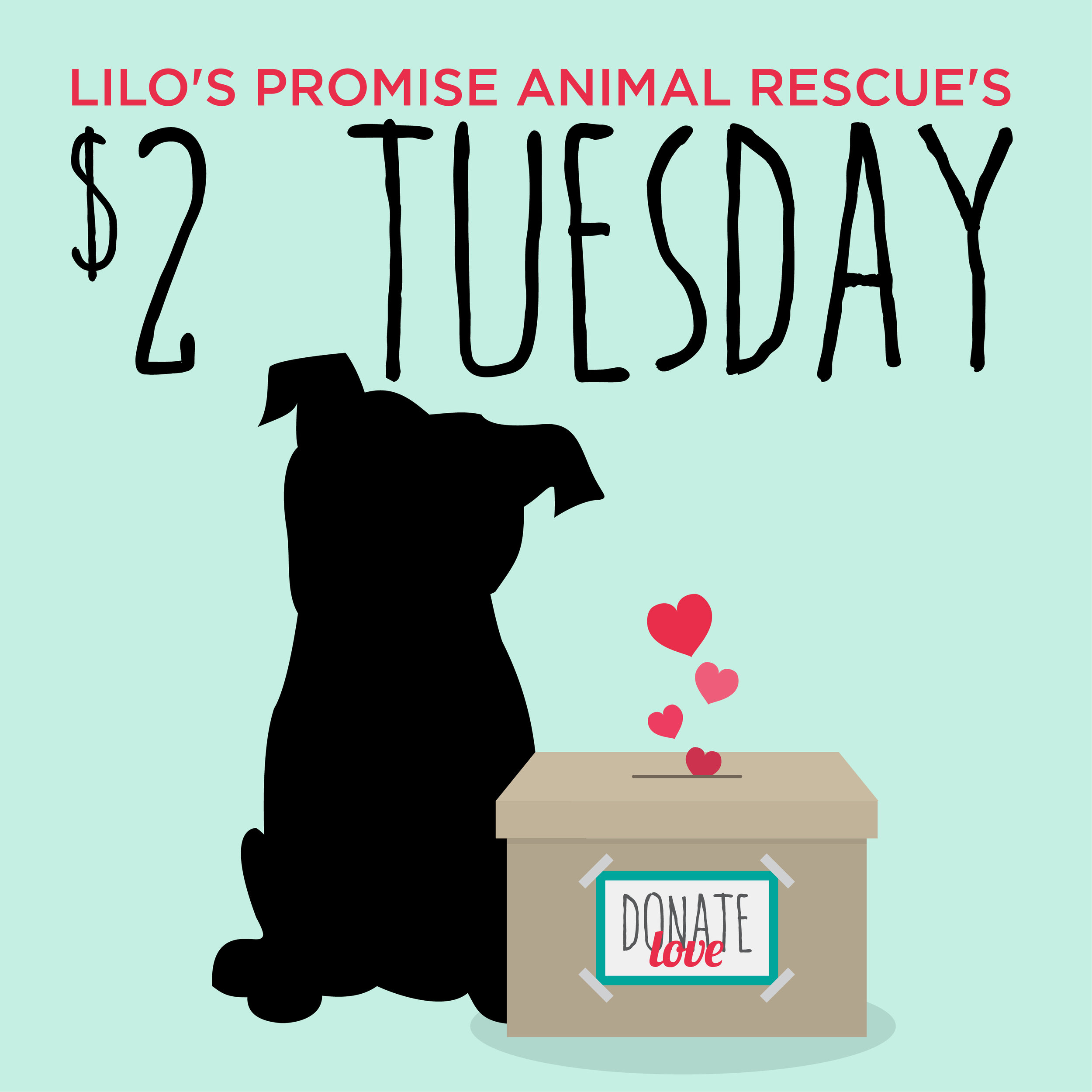 $2 Tuesdays - When you click the link below another window will open with PayPal where you can enter the amount you would like to donate. We appreciate your donation to our rescue & our pups.
