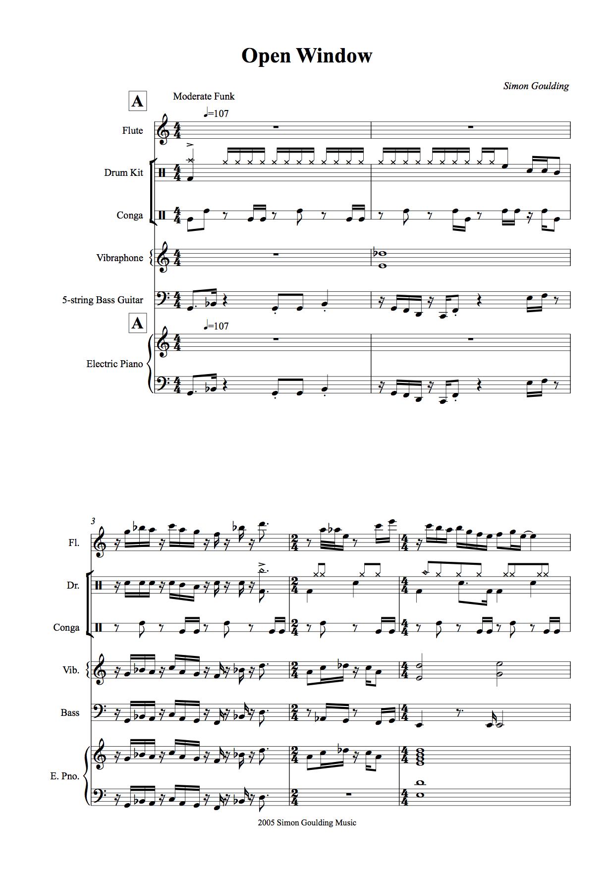 Open window concert score -