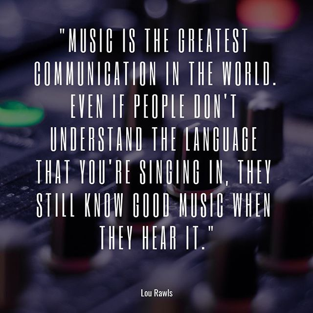 Music is a universal language!