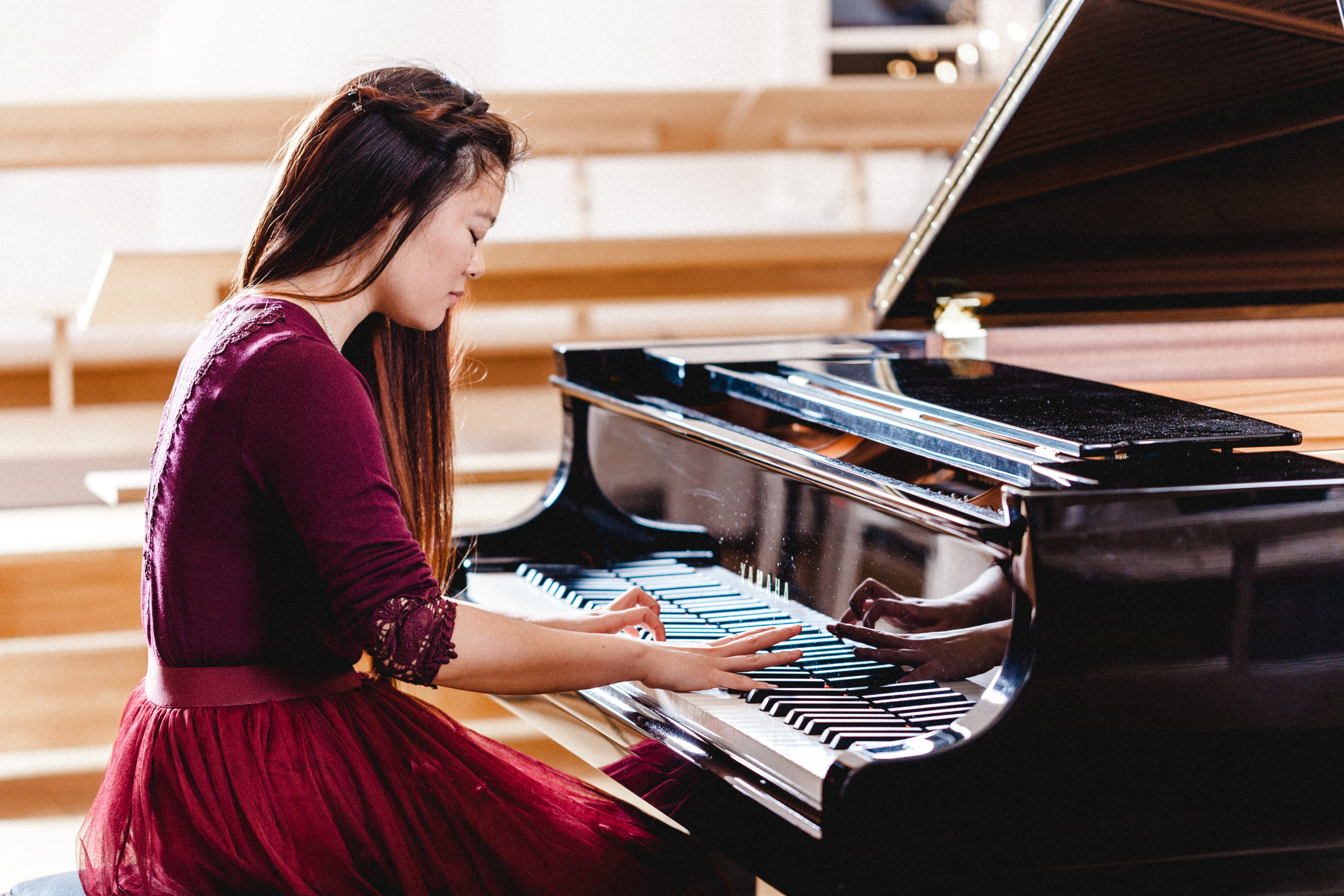 -  Anke Pan was born 31st March 1993 in Mülheim an der Ruhr (Germany) and started to play the piano at the age of 4, with 7 she performed her first piano concerto with orchestra. She was accepted to the Pre-College in Cologne soon and studied with Prof. Pierre-Laurent Aimard and later with Prof. Ilja Scheps, continuing her musical development and artistic maturing. Since then she has been awarded many grants and performed in international media. She received first prizes at several international piano competitions, including the Steinway-Klavierspiel-Wettbewerb in Hamburg and the Rotary-Wettbewerb in Essen and the