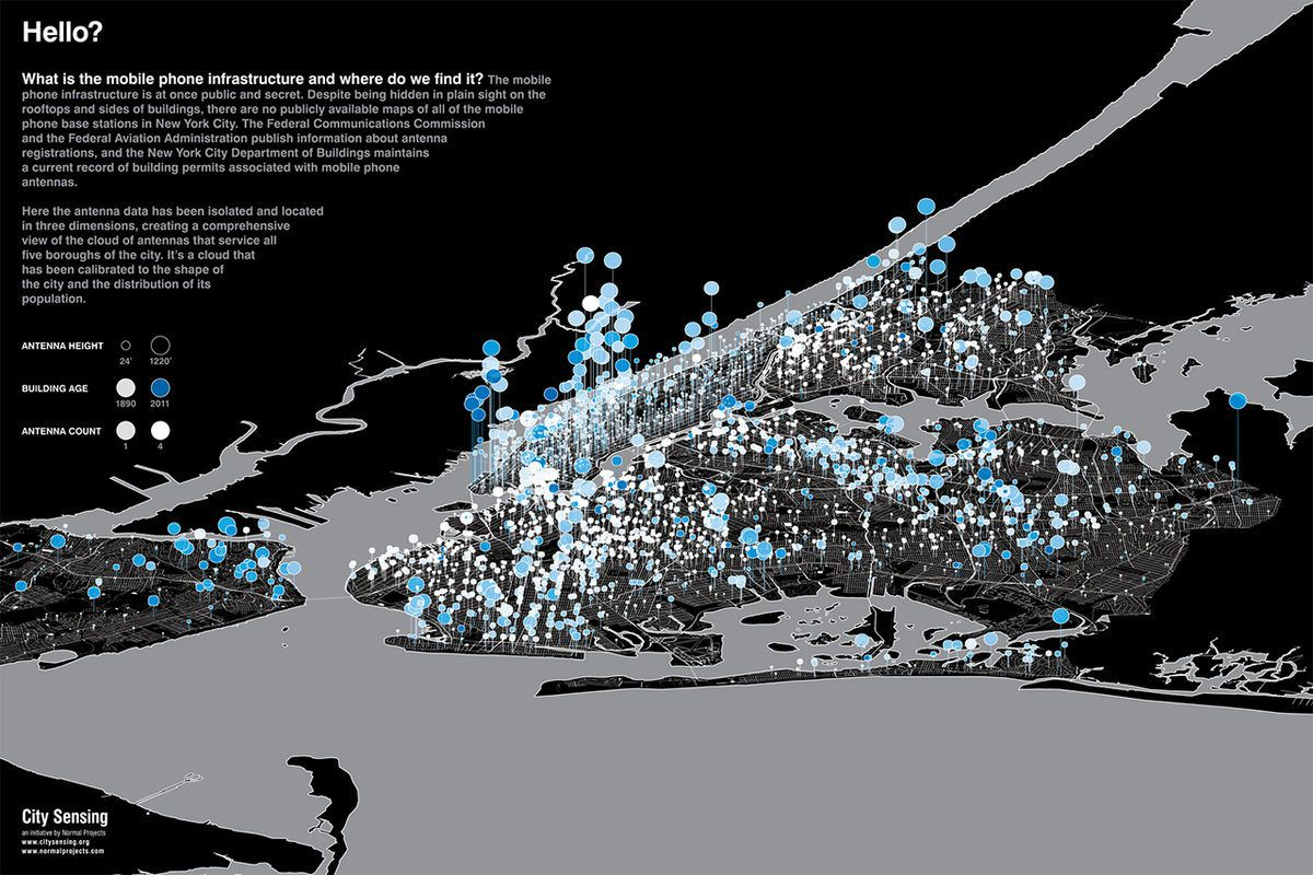 Brooklyn and Downtown Manhattan Cell Transmitters