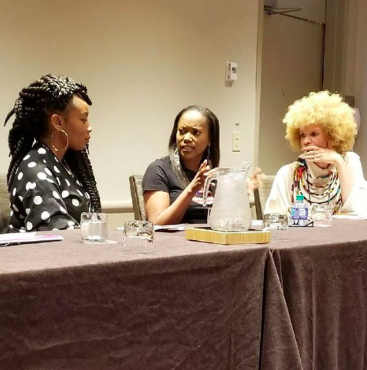 Pictured: EbonyJanice, Ericka Alexander, Michaela Angela Davis