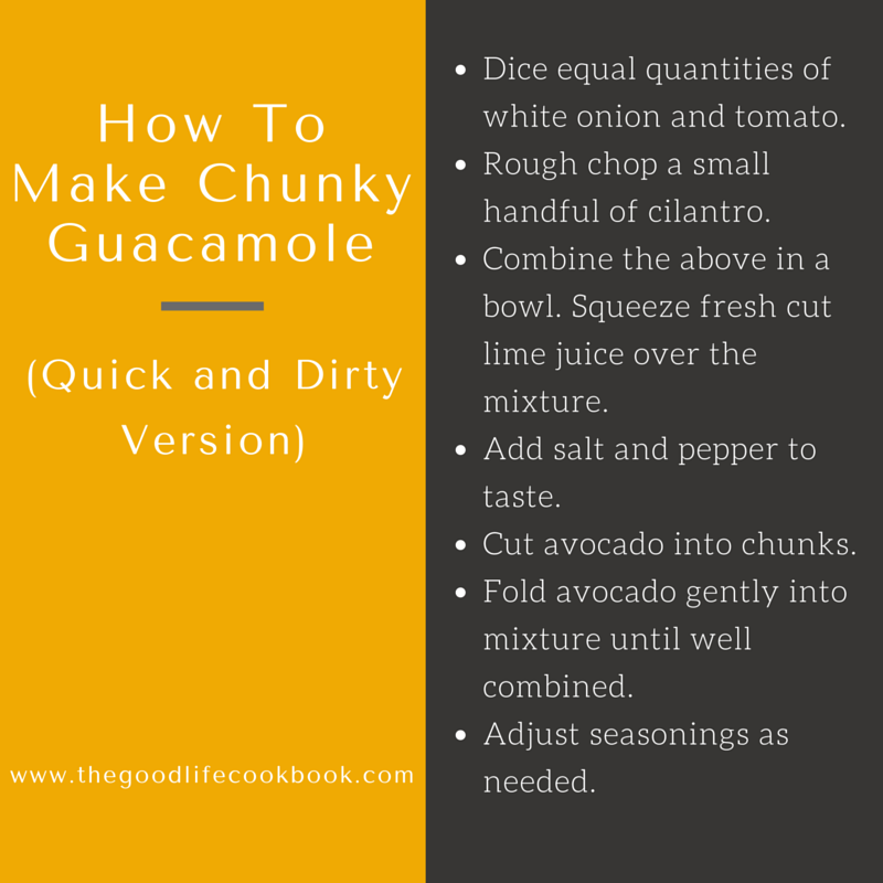 how to make chunky guacamole or avocado salad