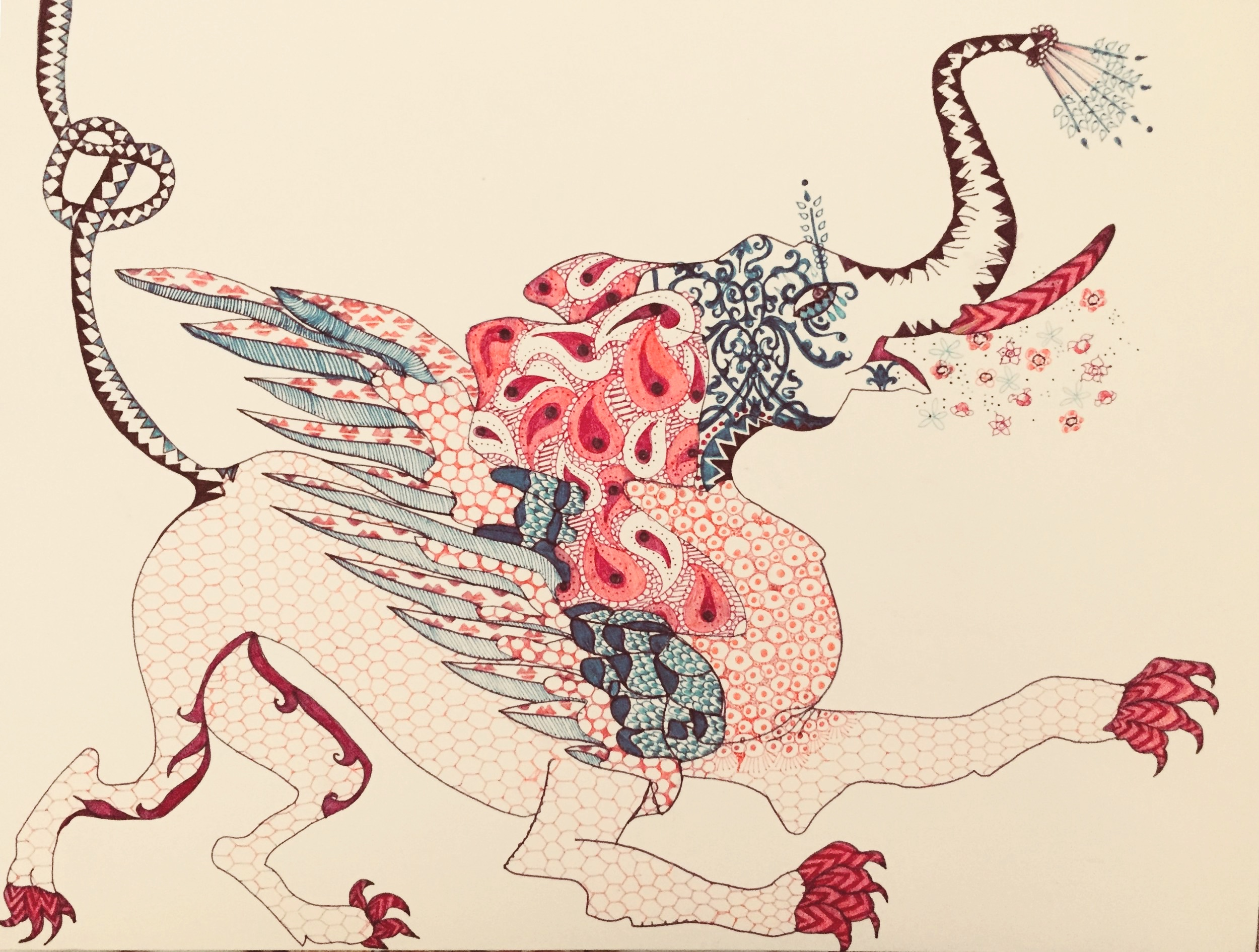 hybrid creature 1 (elephant gryphon)