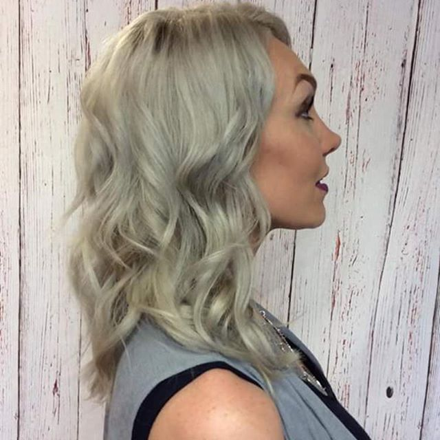 Icy silver blonde throwback by Teri. Did you check out our shampoo  #giveaway? It's one post back and there's still time to enter!