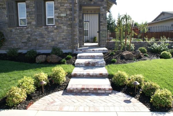 Hardscape -- concrete, brick and pavers