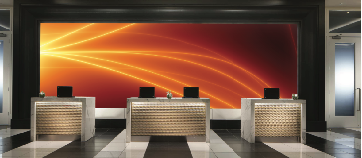 F or HOSPITALITY  Get an large scale piece for a reception or multiple pieces for each room of your hotel. We create the art to match your branding needs.