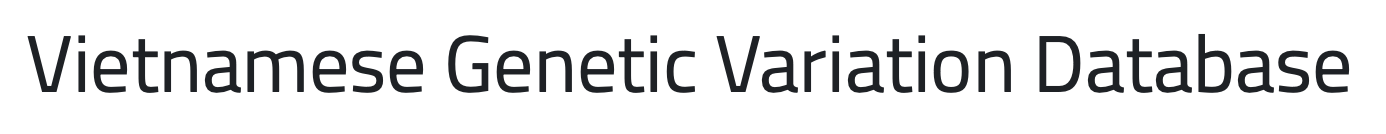 Vietnamese Genetic Variation Database