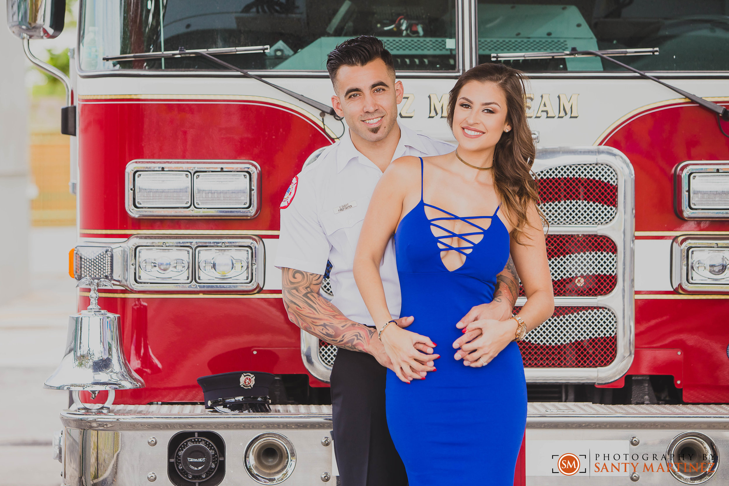 Miami Firefighter Engagement Session - Photography by Santy Martinez.jpg
