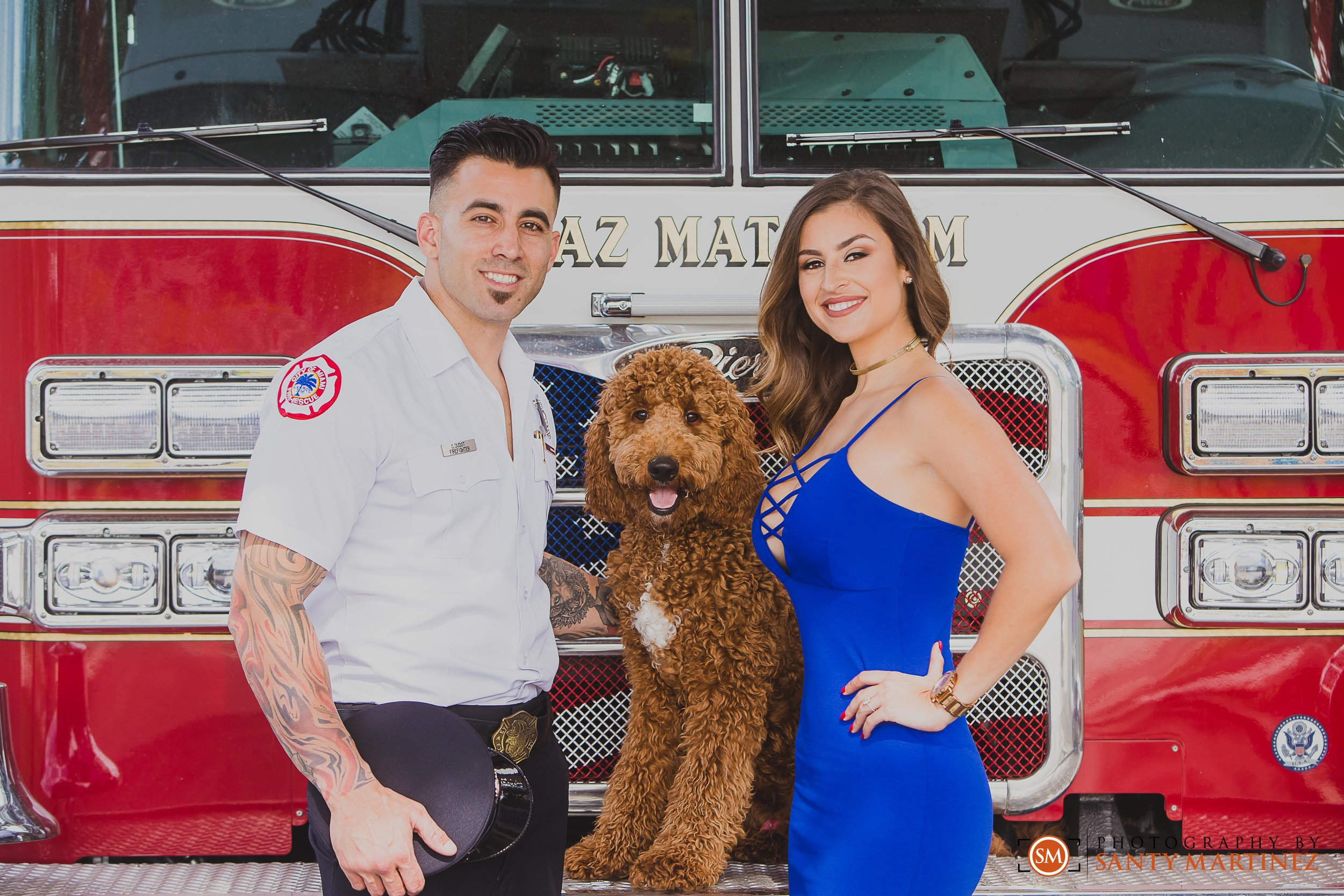 Miami Firefighter Engagement Session - Photography by Santy Martinez-4.jpg