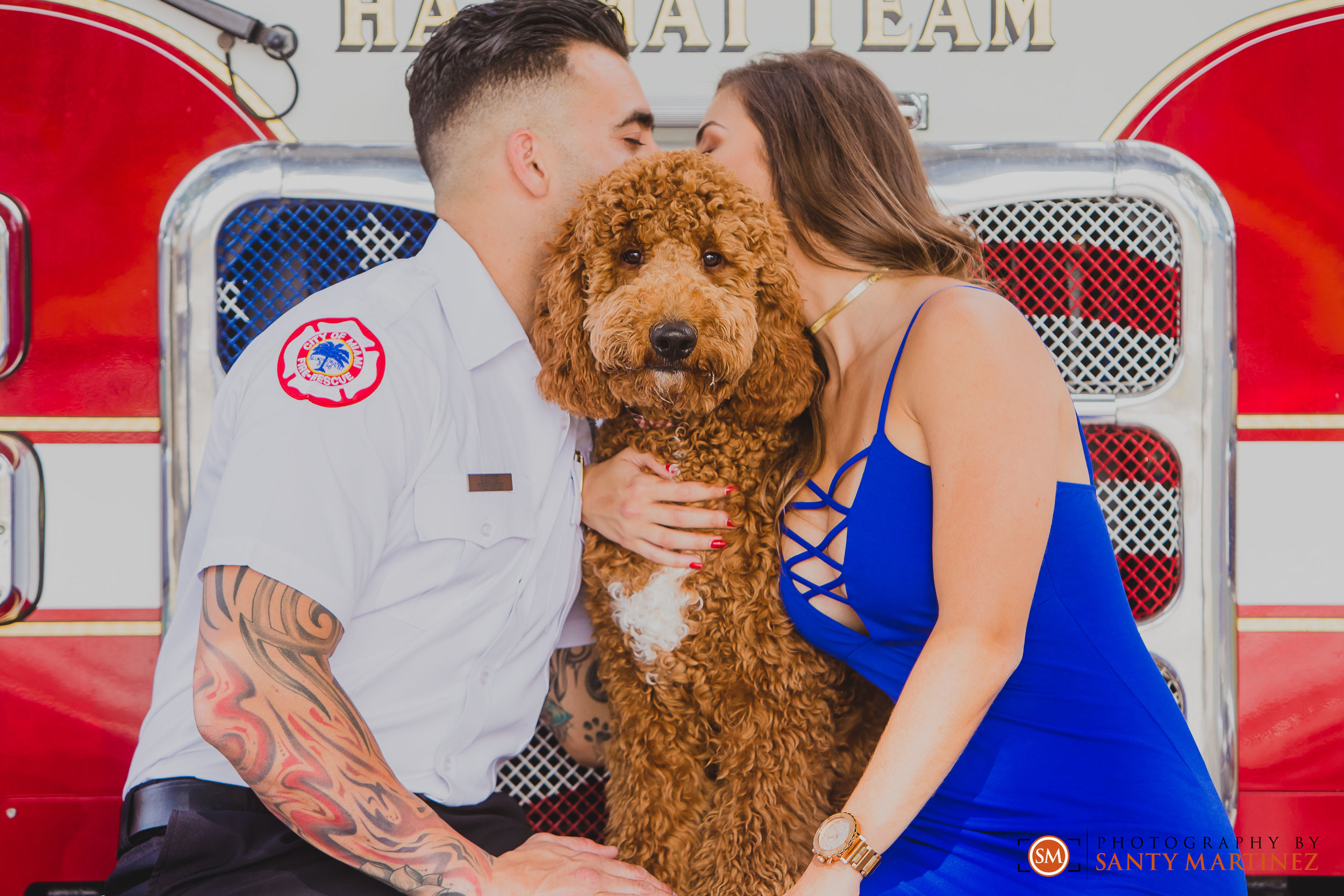 Miami Firefighter Engagement Session - Photography by Santy Martinez-5.jpg