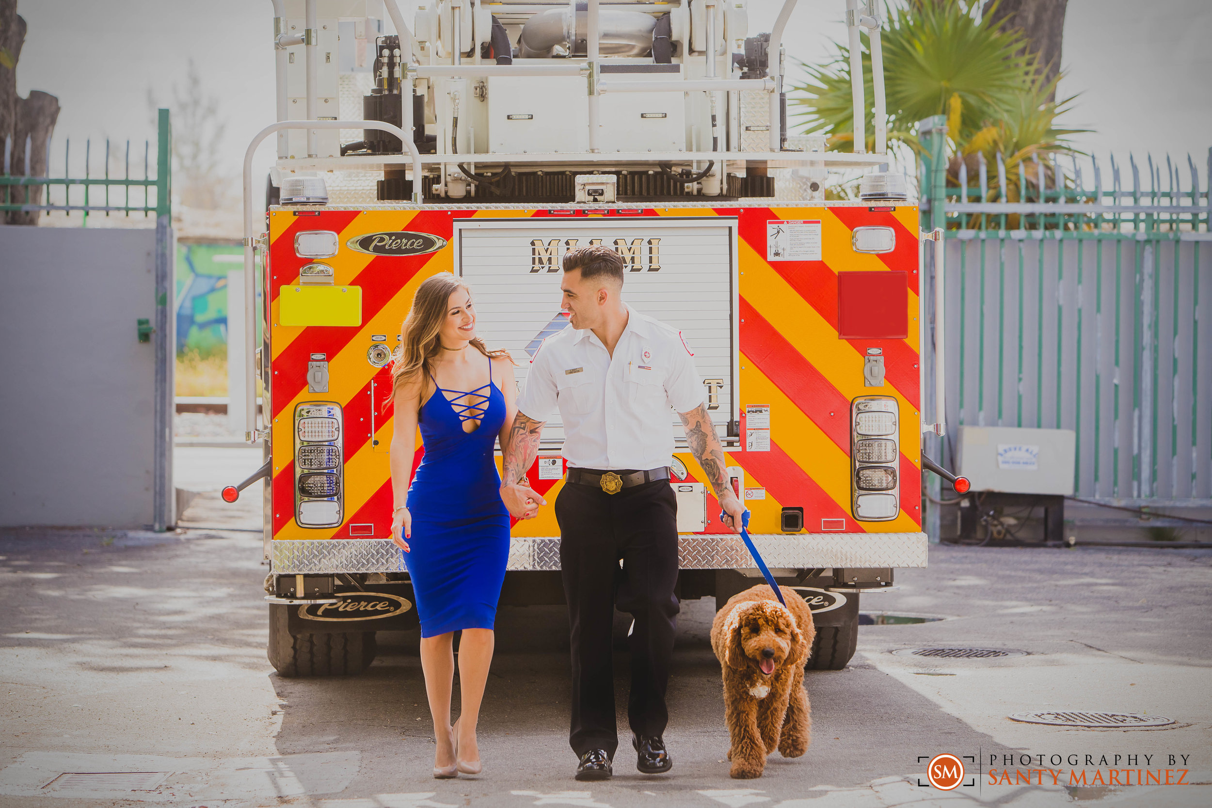 Miami Firefighter Engagement Session - Photography by Santy Martinez-6.jpg