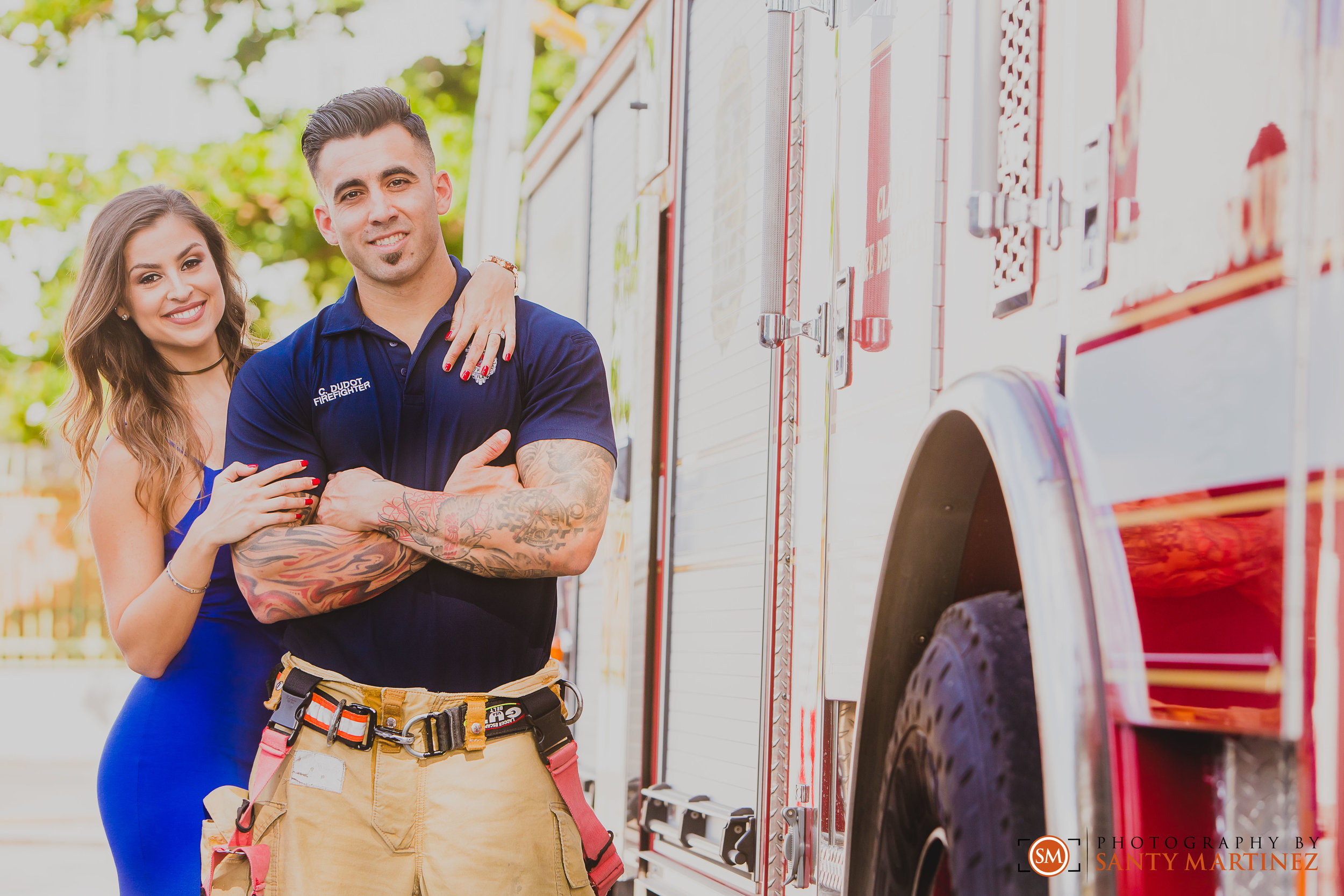 Miami Firefighter Engagement Session - Photography by Santy Martinez-9.jpg