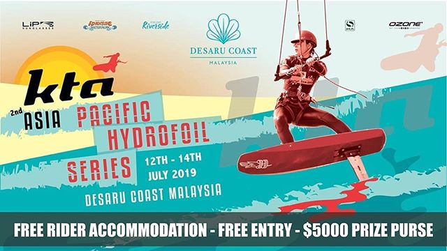 Back in action in Malaysia 12-14 July The KTA Asia Pacific Hydrofoil Series is hitting those shores once again at Desaru Coast on the Malay Peninsula . . .  #kiteboarding  #hydrofoil  #kitesurfing  #travel  #Malaysia  #beachlife  #singapore #asia #instagram #action #sport #watersport #kitefoil