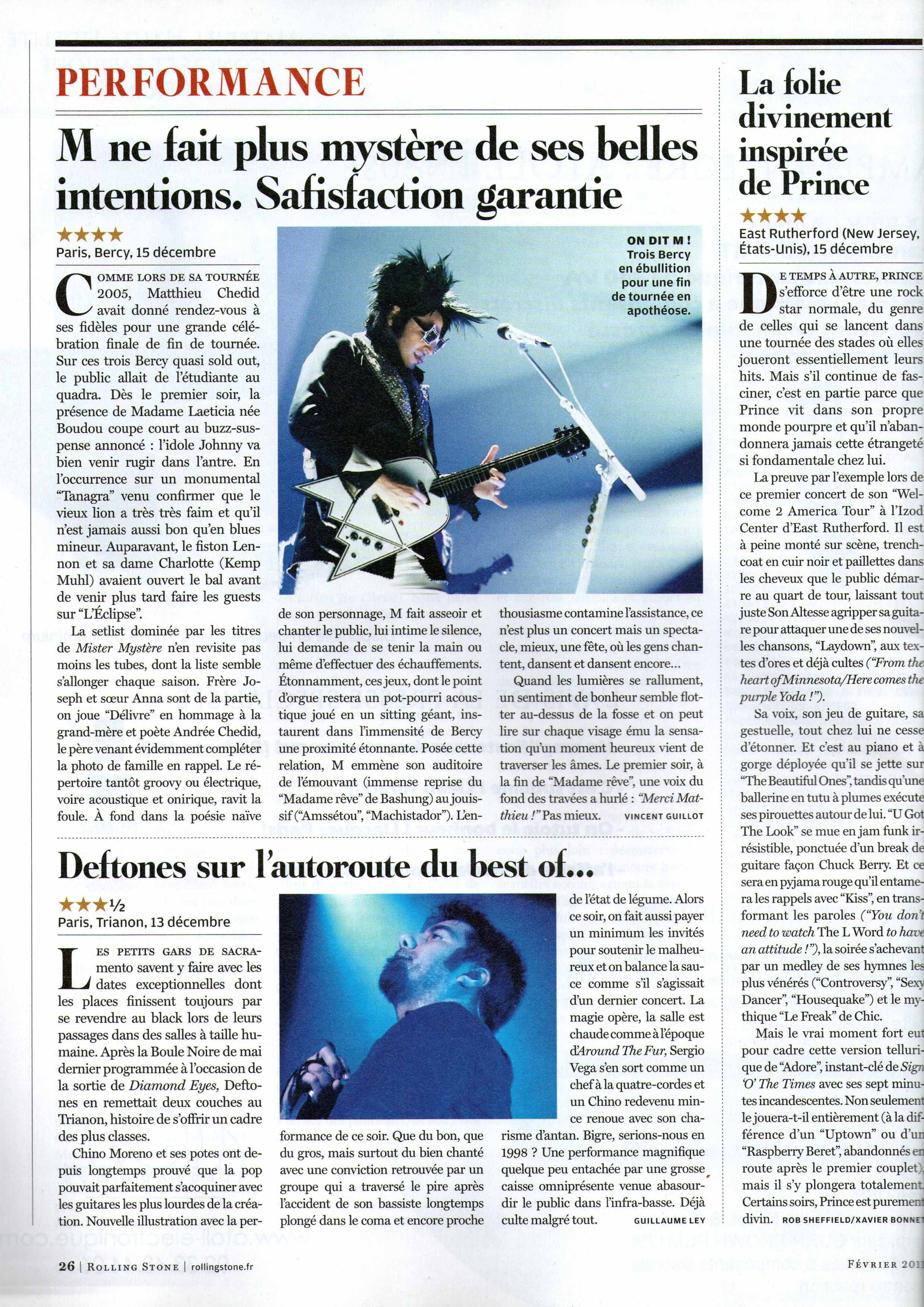 -M- and Deftones (Rolling Stone France)