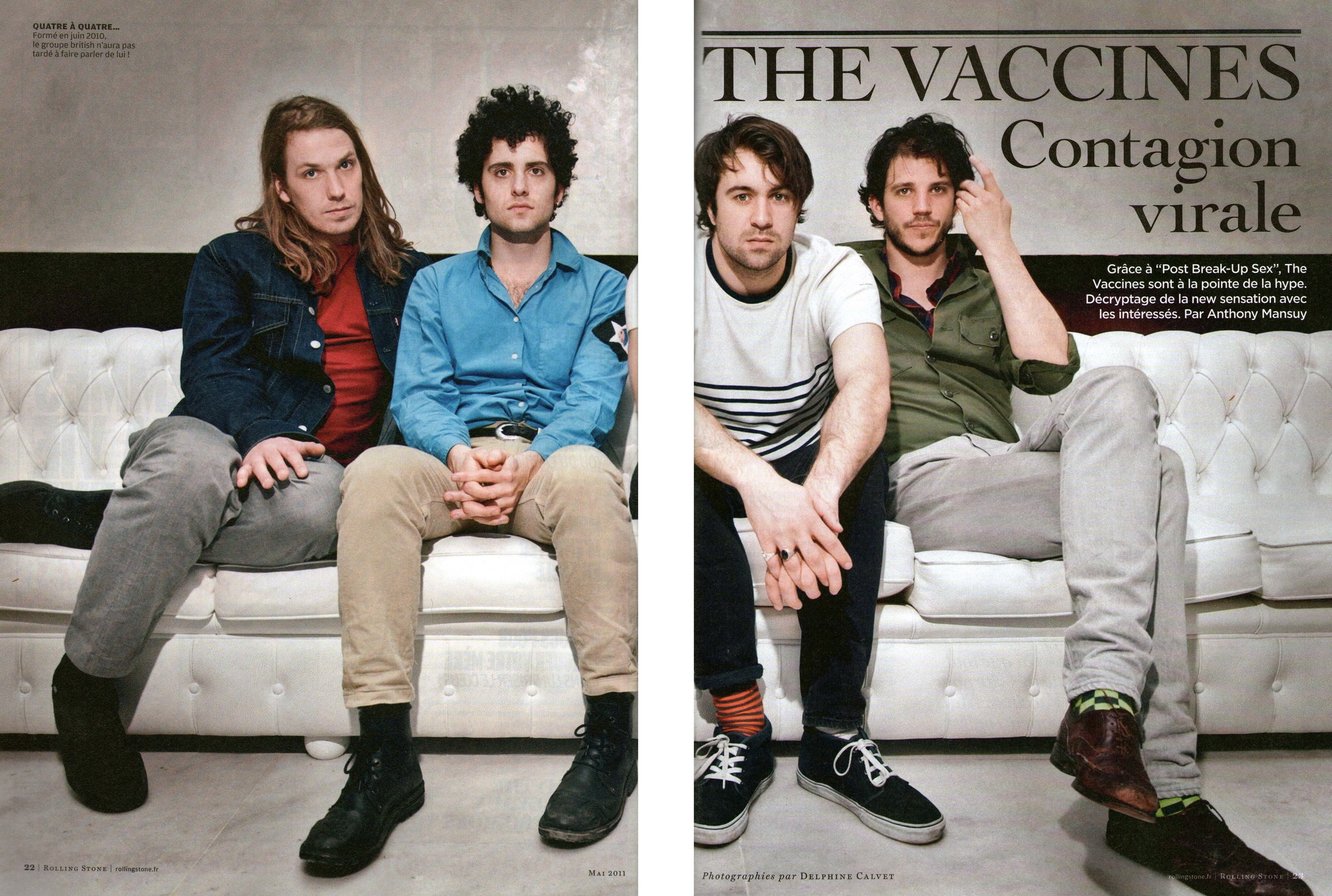 The Vaccines (Rolling Stone France)