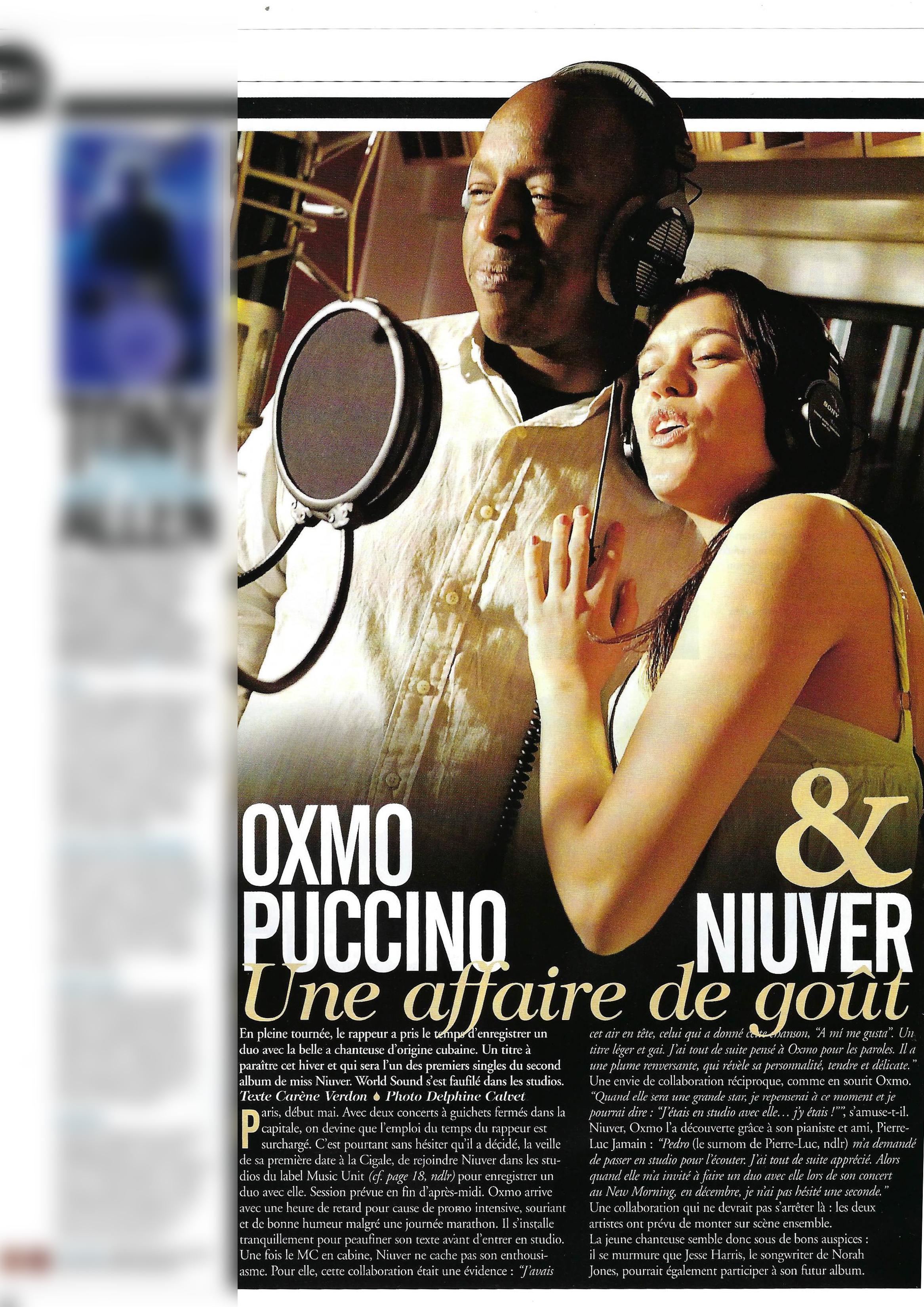 Oxmo Puccino & Niuver (World Sound)