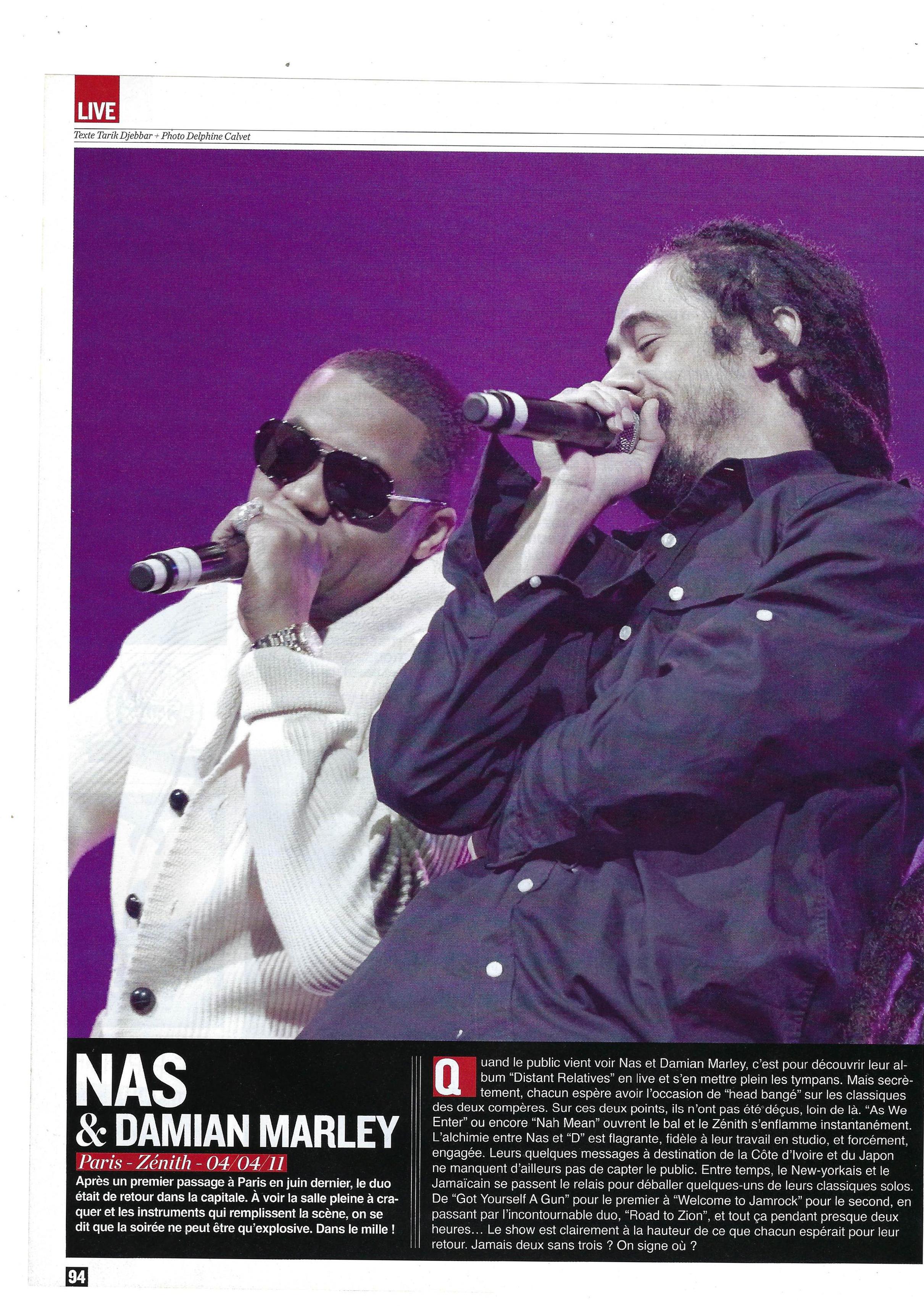 Nas & Damian Marley (Rap Mag)