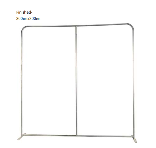 TENSION WALL 300CM BY 300CM