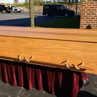 Nolichucky Casket - Aldergrove Caskets can build custom caskets to honor the unique needs of different communities.This custom oak casket was built for a burial in the Baha'i community.Click for Quote