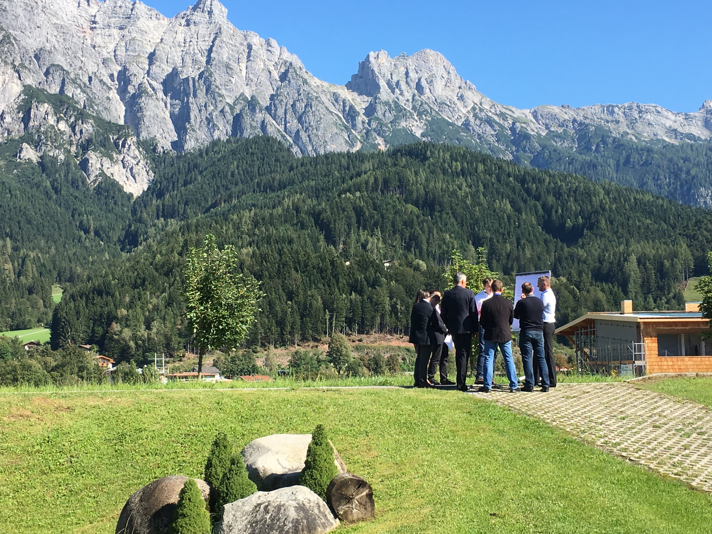 An outdoor working session at one of our recent workshops in Austria.