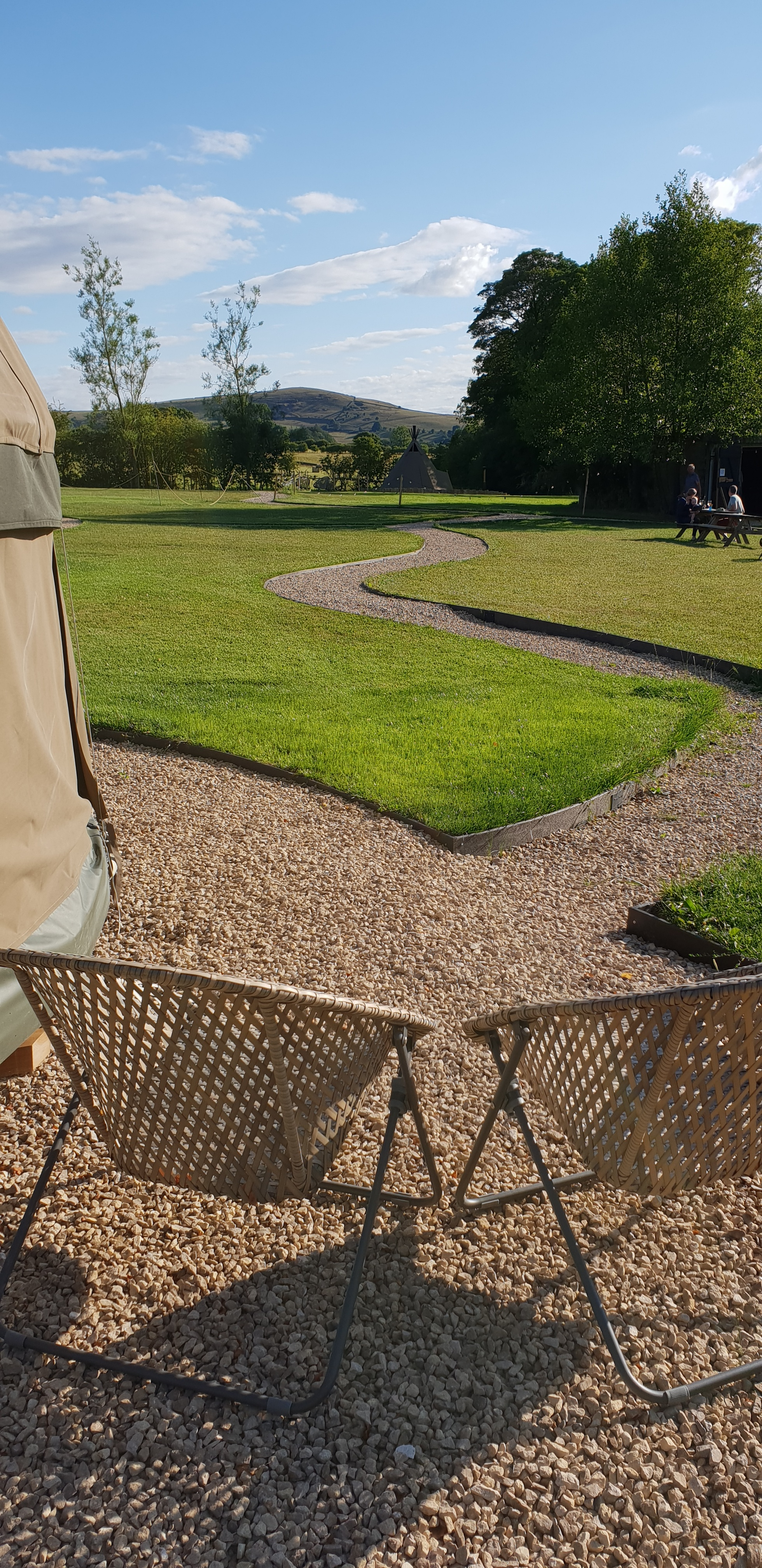 outdoor glamping in Derbyshire