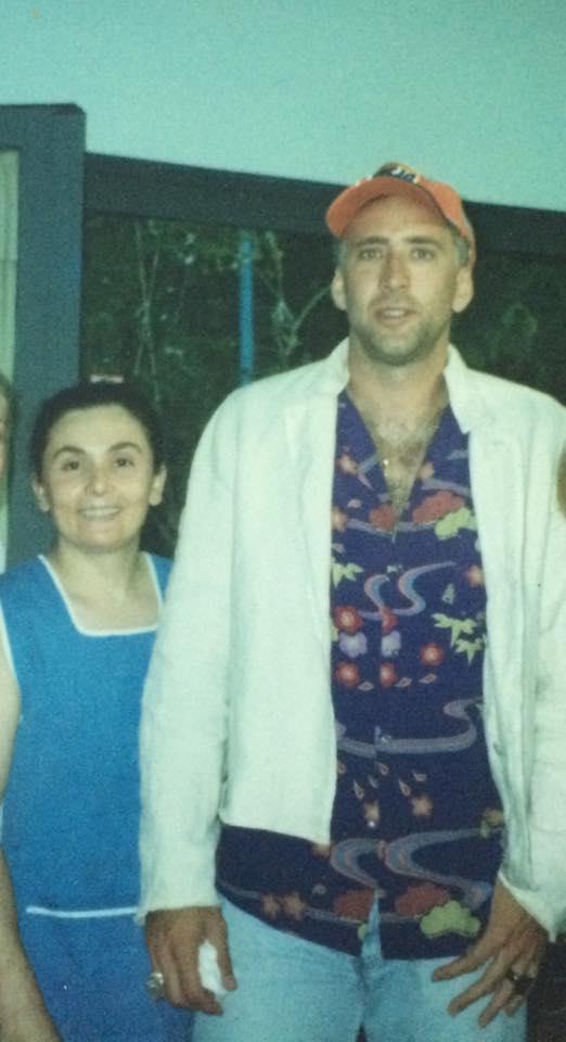 Nicolas Cage with Nikoleta