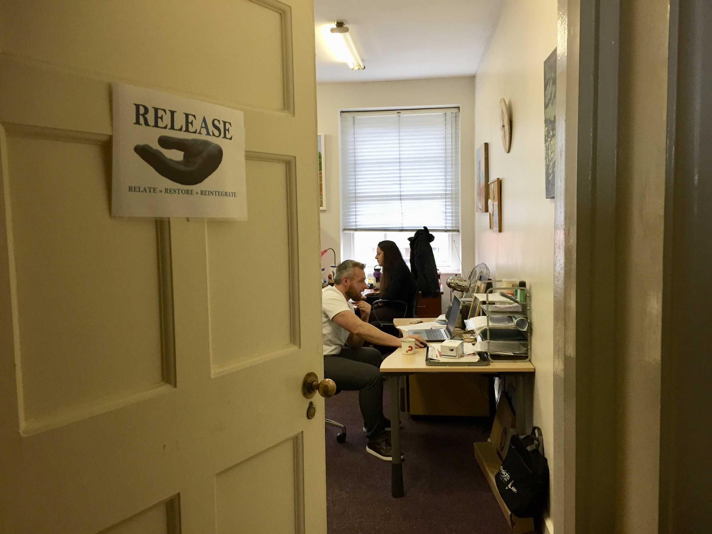 neutral venue visits - Release offers our office's basement living and kitchen space as a neutral venue for escorted prisoners to meet with their loved ones outside the prison environment.