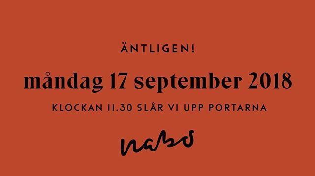 Nu är det ÄNTLIGEN dags att öppna upp vår restaurang Nabo.  Varmt välkomna!  Boka bord: www.restaurangnabo.se