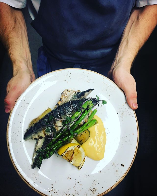 Skön feeling och god mat. Vad sägs om  grillad makrill med östgötasparris och hollandaise 👌🏻🍽👍🏻 #maltochhumle